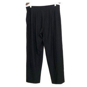Eileen Fisher | Women's Black Knit Pants | L